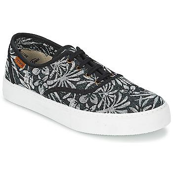 Schuhe Damen Sneaker Low Victoria INGLES ESTAP HOJAS TROPICAL Schwarz