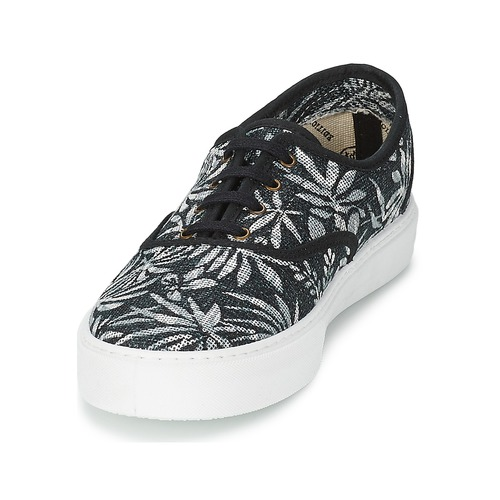 Victoria INGLES Schuhe ESTAP HOJAS TROPICAL Schwarz  Schuhe INGLES TurnschuheLow Damen 59 a43fa7