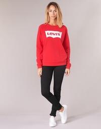 Kleidung Damen Röhrenjeans Levi's 711 SKINNY Schwarz