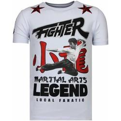 Kleidung Herren T-Shirts Local Fanatic Fighter Legend Strass Weiß