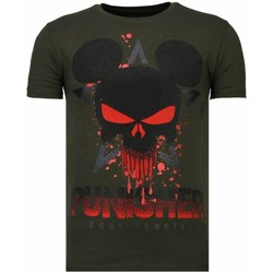 Kleidung Herren T-Shirts Local Fanatic Punisher Mickey Strass Grün