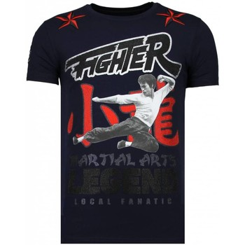 Kleidung Herren T-Shirts Local Fanatic Fighter Legend Strass Blau