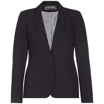 Kleidung Damen Jacken / Blazers Anastasia Einreiher Anzugjacke Black