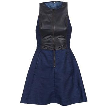 Kleidung Damen Kurze Kleider G-Star Raw SUTZIL DRESS Marine / Schwarz