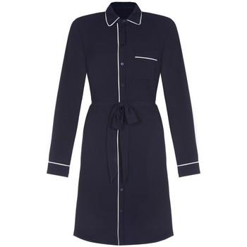 Kleidung Damen Trenchcoats Anastasia - Damen Piped Shirt Kleid Blue