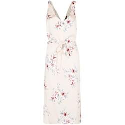 Kleidung Damen Maxikleider Anastasia Satin-Blumensandress Beige