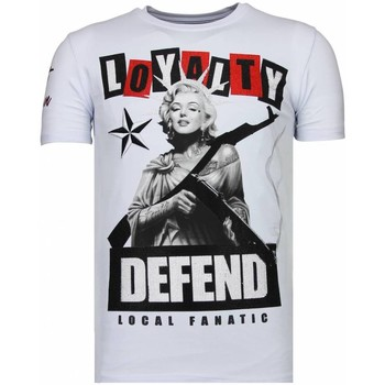 Kleidung Herren T-Shirts Local Fanatic Loyalty Marilyn Strass Weiß