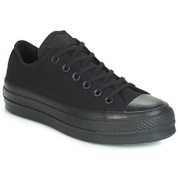 Schuhe Damen Sneaker Low Converse CHUCK TAYLOR ALL STAR CLEAN LIFT MONO CANVAS OX Schwarz