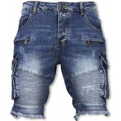 Kleidung Herren Shorts / Bermudas Enos Denim Overhemd Slim Army Print W Schwarz