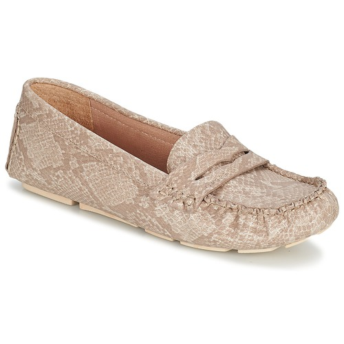 Schuhe Damen Slipper Esprit NOIR LOAFER Beige