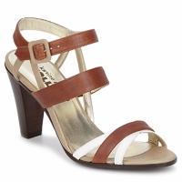 Schuhe Damen Sandalen / Sandaletten Karine Arabian JOLLY Cognac / Beige / Weiss