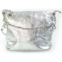 Taschen Damen Umhängetaschen Vera Pelle LB44ARG Silber