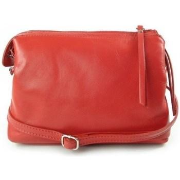 Taschen Damen Umhängetaschen Vera Pelle Trzy Rot