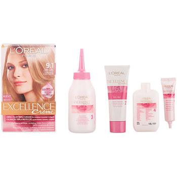 Beauty Accessoires Haare L'oréal Excellence Creme Tinte 9,1 Rubio Claro Claro Ceniza