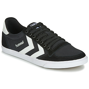 Schuhe Sneaker High Hummel TEN STAR LOW CANVAS Schwarz / Weiss