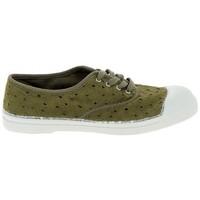 Schuhe Damen Tennisschuhe Bensimon Toile Lacet Kaki Grün