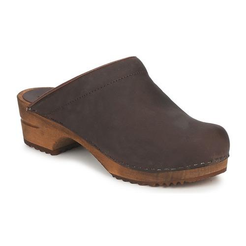 Sanita CHRISSY OPEN Braun  Schuhe Pantoletten / Clogs Damen 59,99