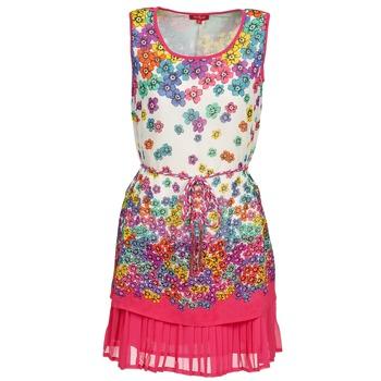 Kleidung Damen Kurze Kleider Derhy BARMAN Naturfarben / Rose