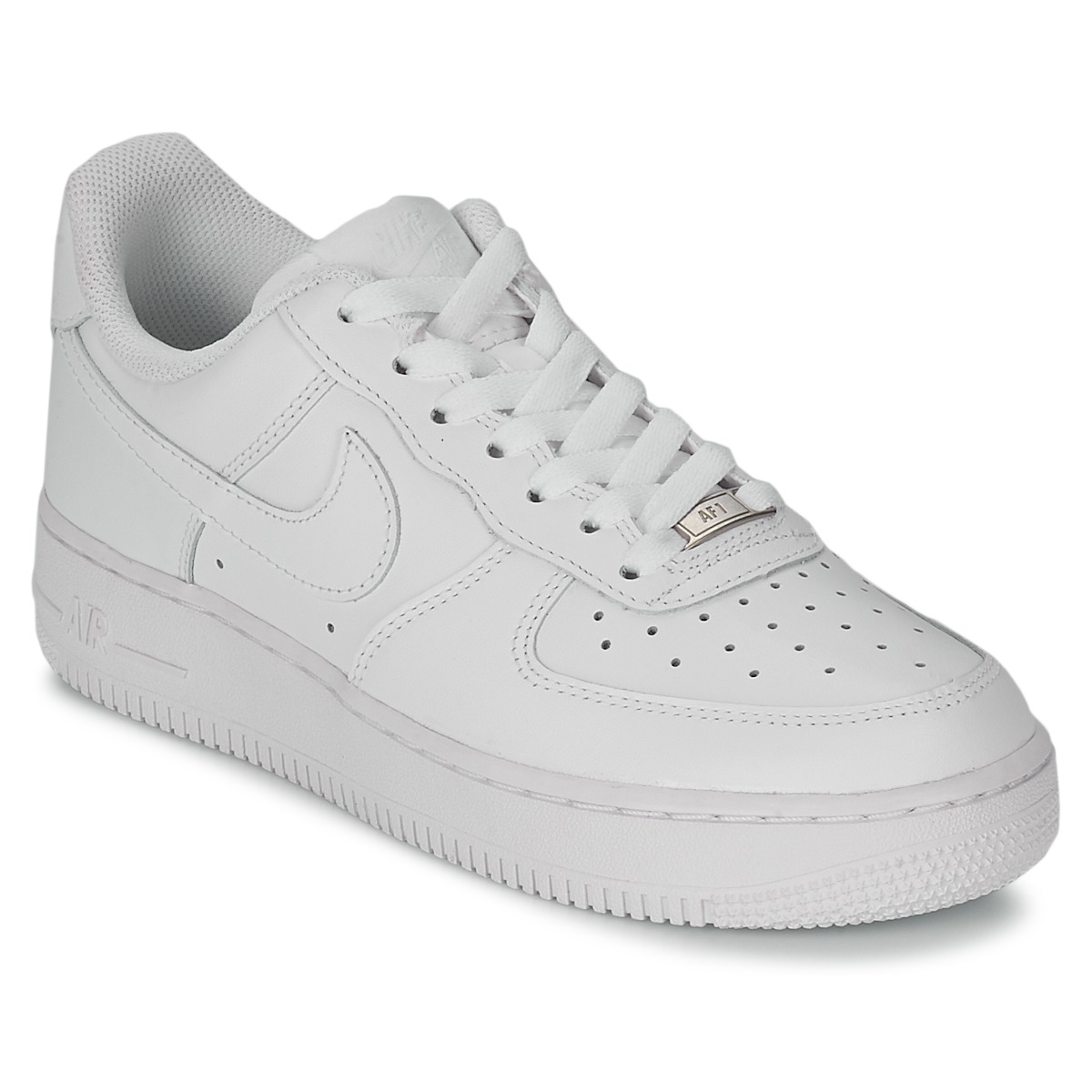 Nike AIR FORCE 1 07 LEATHER W Weiss - Kostenloser Versand bei Spartoode ! - Schuhe Sneaker Low Damen 89,99 €