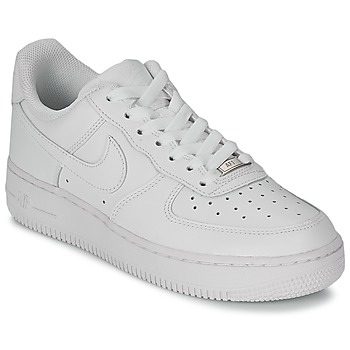 Schuhe Damen Sneaker Low Nike AIR FORCE 1 07 LEATHER W Weiss