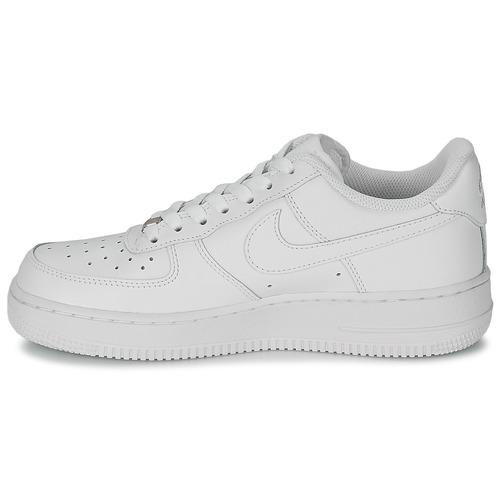 Nike AIR FORCE FORCE FORCE 1 07 LEATHER W Weiss  Schuhe Sneaker Low Damen 8dcbb2