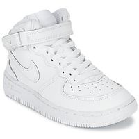 Schuhe Kinder Sneaker Low Nike AIR FORCE 1 MID Weiss