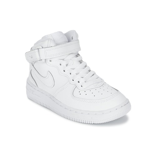 Schuhe Kinder Sneaker High Nike AIR FORCE 1 MID Weiss