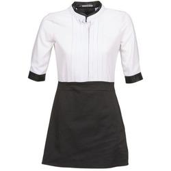 Kleidung Damen Kurze Kleider La City COLUMBA Schwarz / Weiss