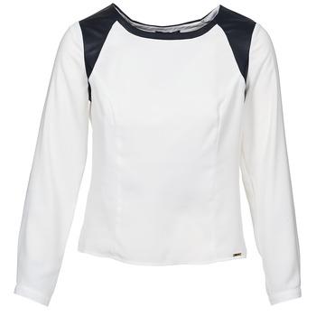 Kleidung Damen Tops / Blusen La City LAETITIA Naturfarben / Schwarz