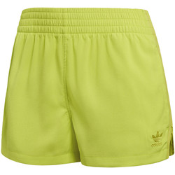 Kleidung Damen Shorts / Bermudas adidas Originals High-Waist Shorts Gelb