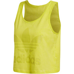 Kleidung Damen Tops adidas Originals Loose Crop Tanktop Gelb