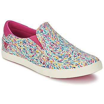 Schuhe Damen Slip on Gola DELTA LIBERTY KT Weiss / Rose / Blau