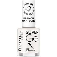 Beauty Damen Nagellack Rimmel London French Manicure Super Gel 090-porcelain 12 ml