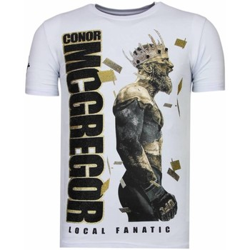 Kleidung Herren T-Shirts Local Fanatic Notorious King Strass Weiß
