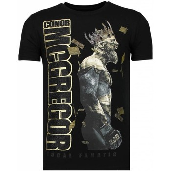 Kleidung Herren T-Shirts Local Fanatic Notorious King Strass Schwarz