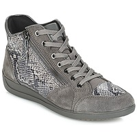 Schuhe Damen Sneaker Low Geox D MYRIA Grau