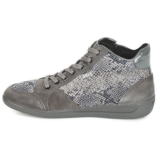 Geox D MYRIA Grau  Schuhe Sneaker Low Damen 115