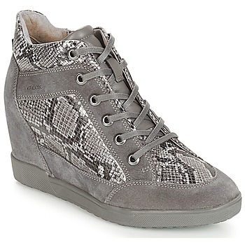 Schuhe Damen Sneaker High Geox D CARUM Grau