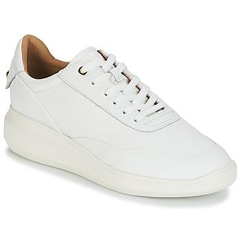 Schuhe Damen Sneaker Low Geox D RUBIDIA Weiss