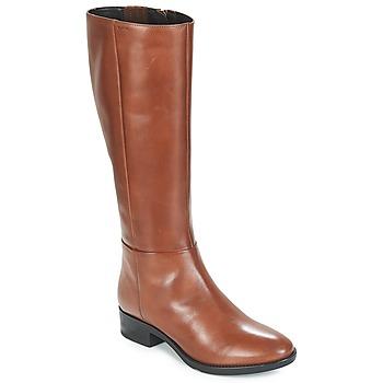 Schuhe Damen Klassische Stiefel Geox D FELICITY Braun