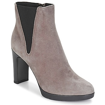 Schuhe Damen Low Boots Geox D ANNYA HIGH Braun