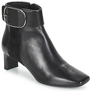 Schuhe Damen Low Boots Geox D VIVYANNE MID Schwarz