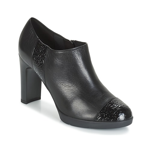 Geox D ANNYA HIGH Schwarz  Schuhe Ankle Boots Damen 129