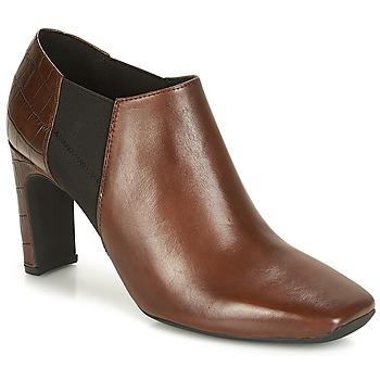 Schuhe Damen Ankle Boots Geox D VIVYANNE HIGH Braun