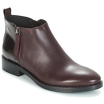 Schuhe Damen Low Boots Geox DONNA BROGUE Bordeaux