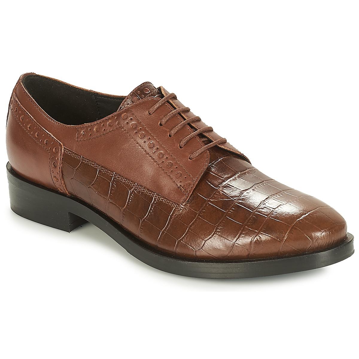 Geox DONNA BROGUE Braun - Kostenloser Versand bei Spartoode ! - Schuhe Derby-Schuhe Damen 135,00 €