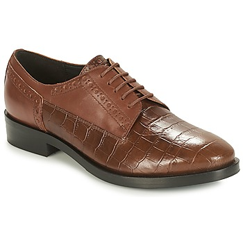 Schuhe Damen Derby-Schuhe Geox DONNA BROGUE Braun