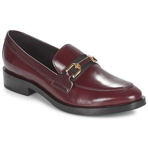 Geox DONNA BROGUE Bordeaux / Schwarz Schuhe Slipper Damen 135