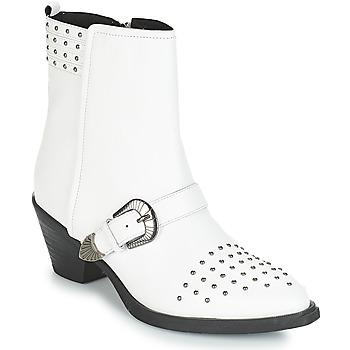 Schuhe Damen Low Boots Geox D LOVAI Weiss