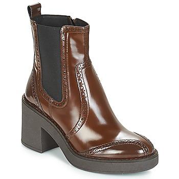 Schuhe Damen Low Boots Geox D ADRYA MID Braun